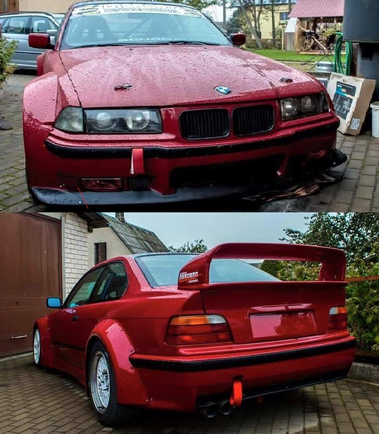 Bmw e36 RB v2 style fender flares set