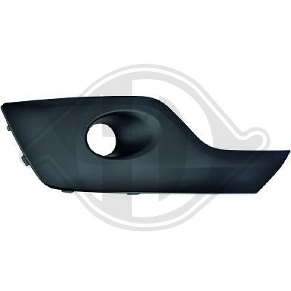 Front bumper fog light cover left side