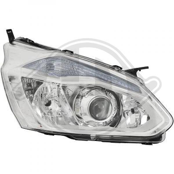 Ford transit custom headlight right 13-18