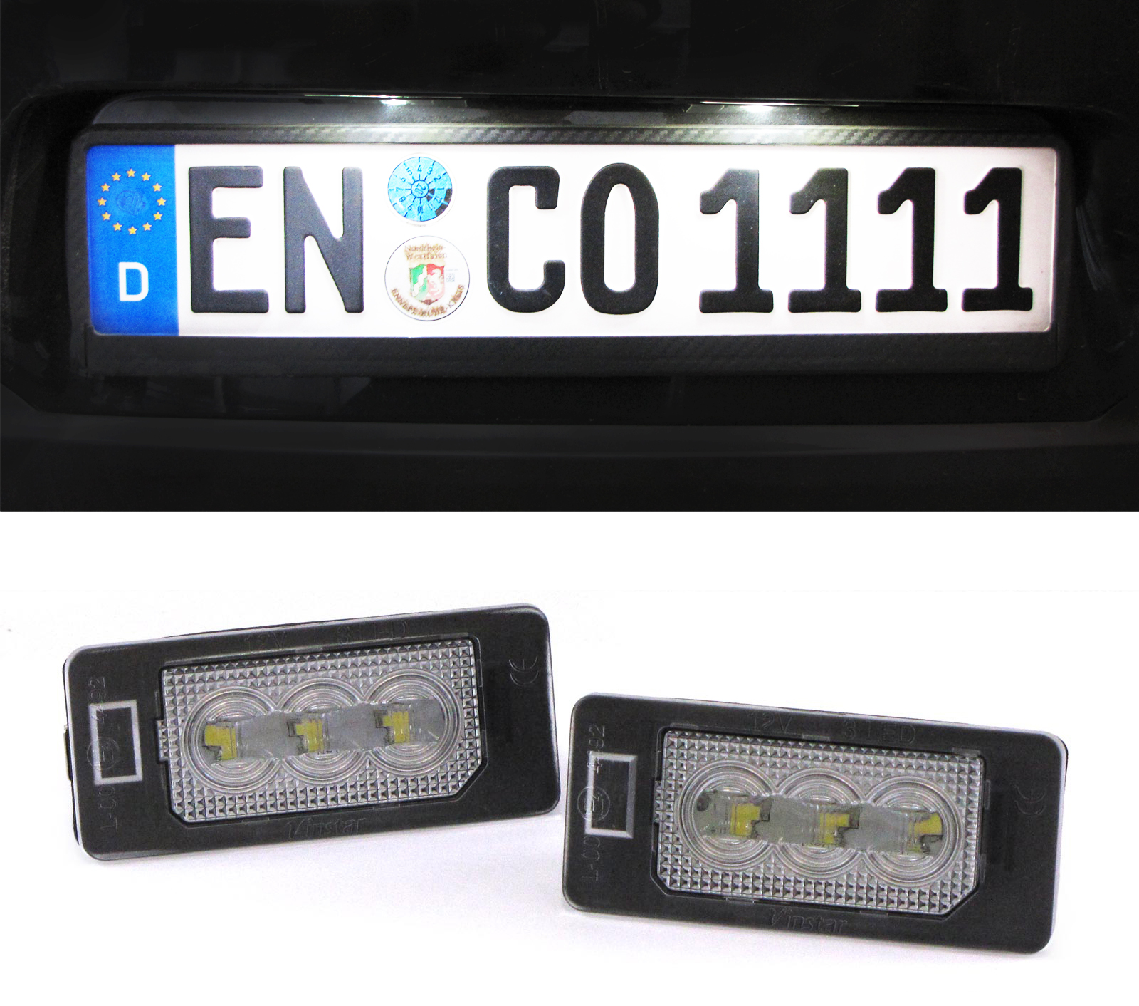 Led plate light Bmw