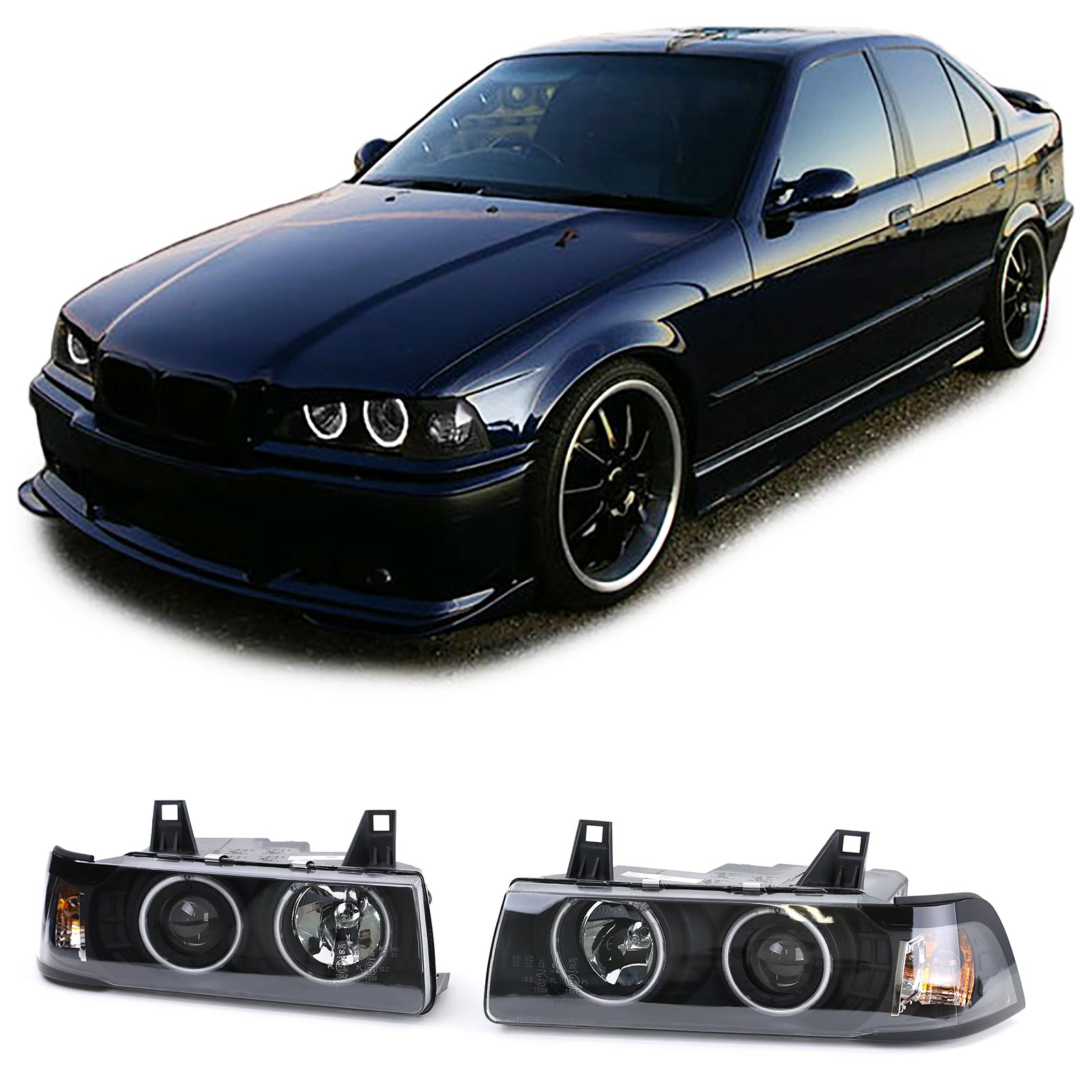 Ljus smoke Chrome E36