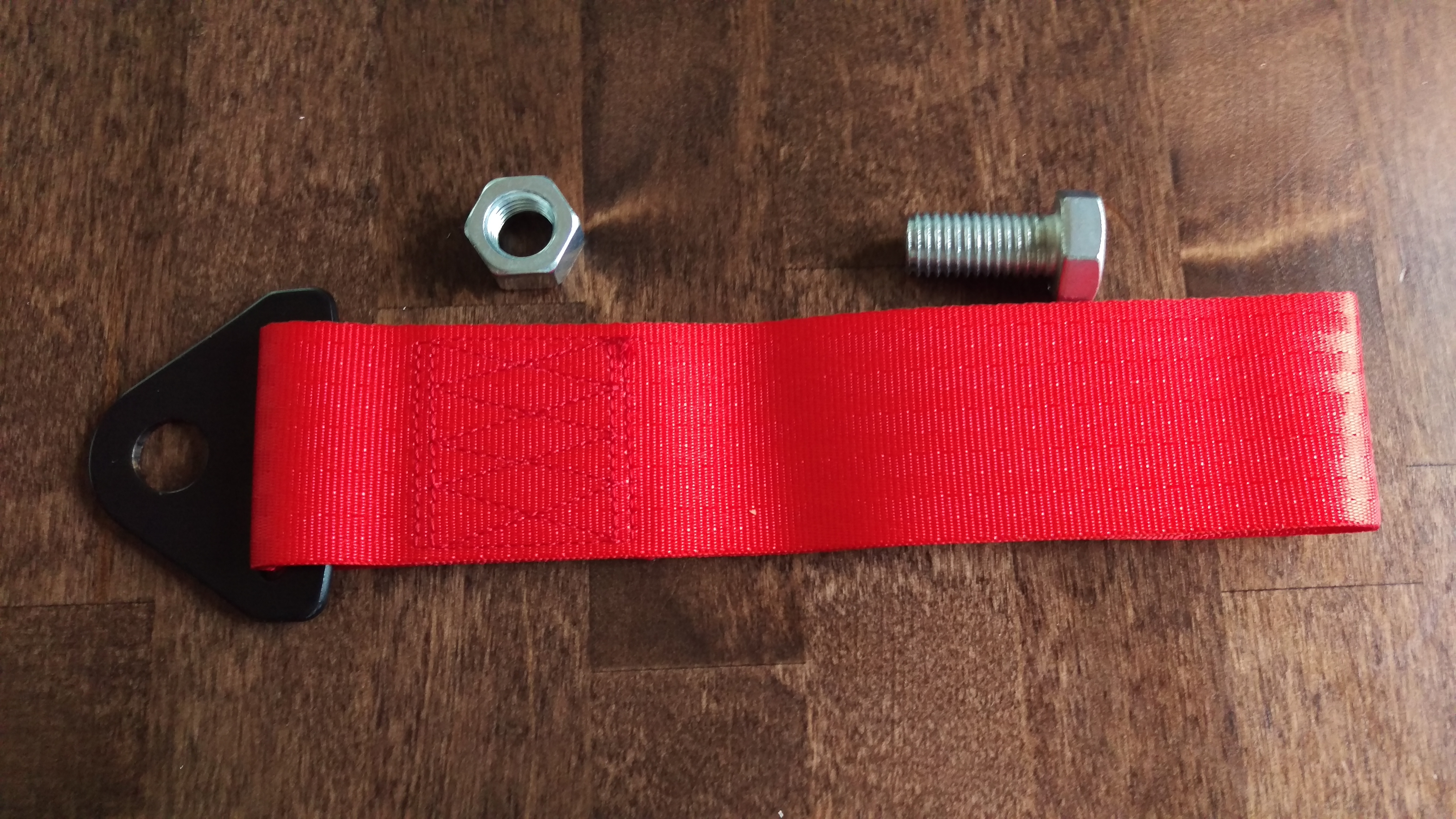 Tow hook, Nylon Red