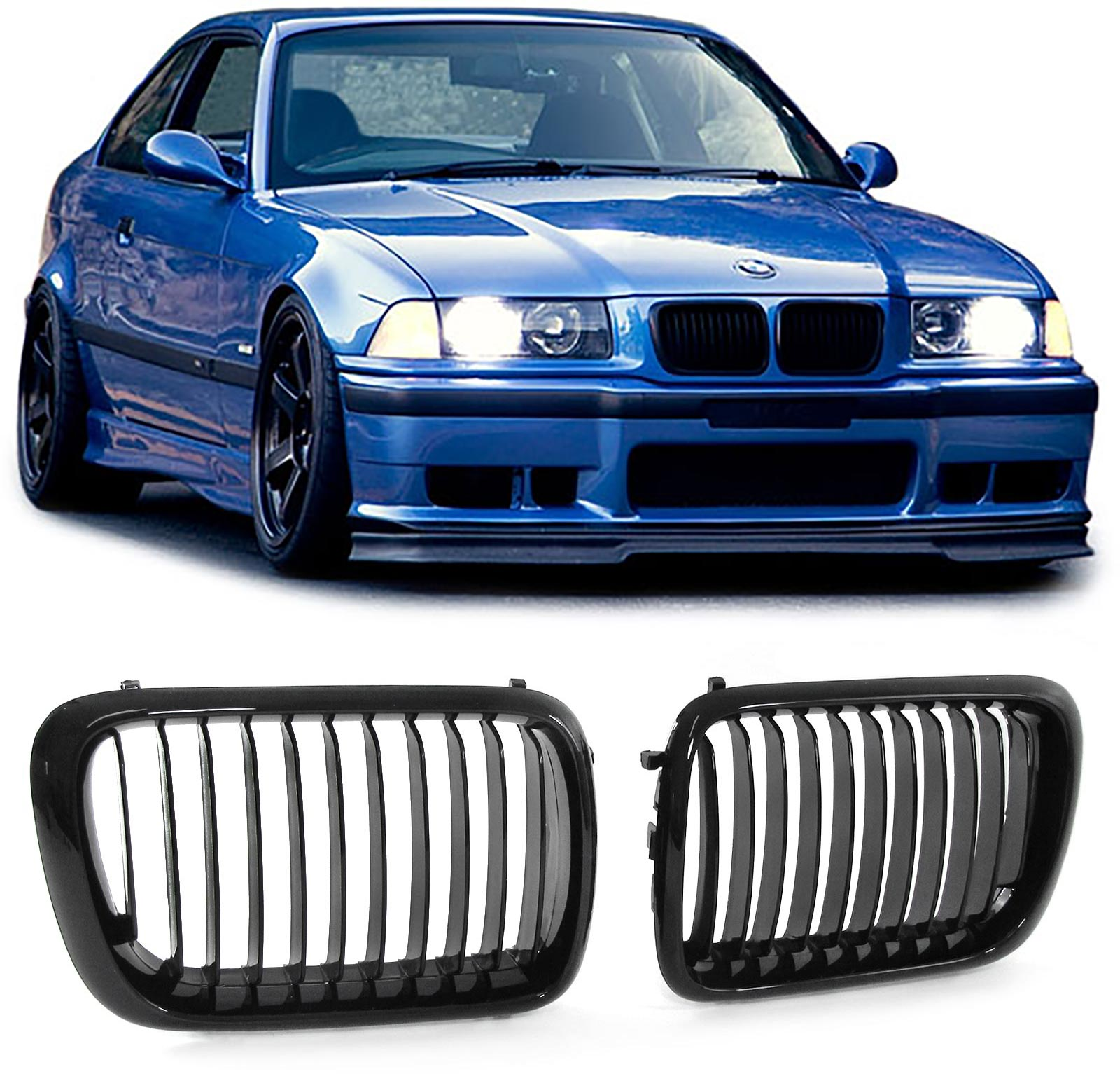 Grill E36 90-96 Shiny black